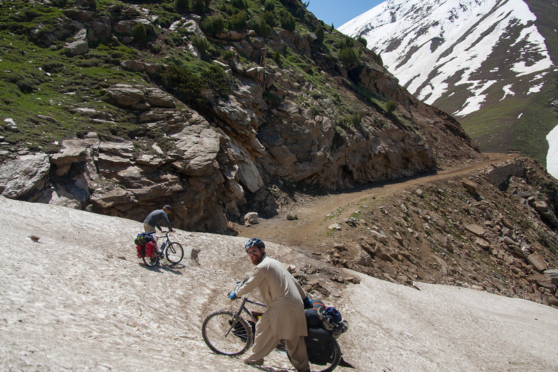 Day 3: we decided to explore a side valley on a rough jeep road. There were many snow patches to cross.