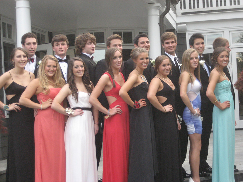 Monica's group picture for prom