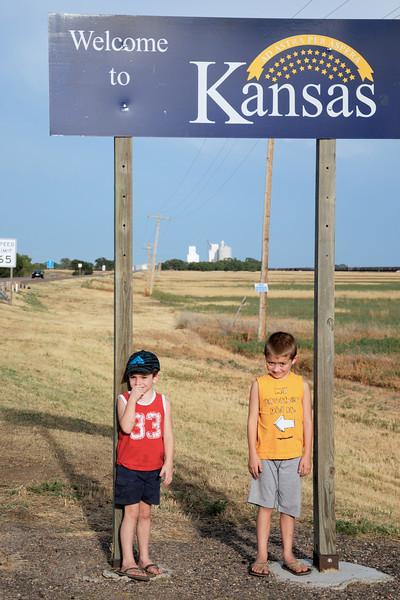 Colorado/Kansas Bordor on US Highway 50