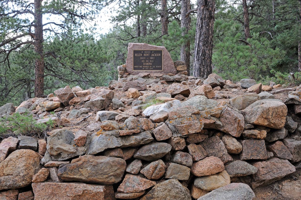 Seven Falls i n Colorado Springs Helen Hunt Jackson's Grave