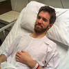 Recovering in the hospital after my appendectomy
