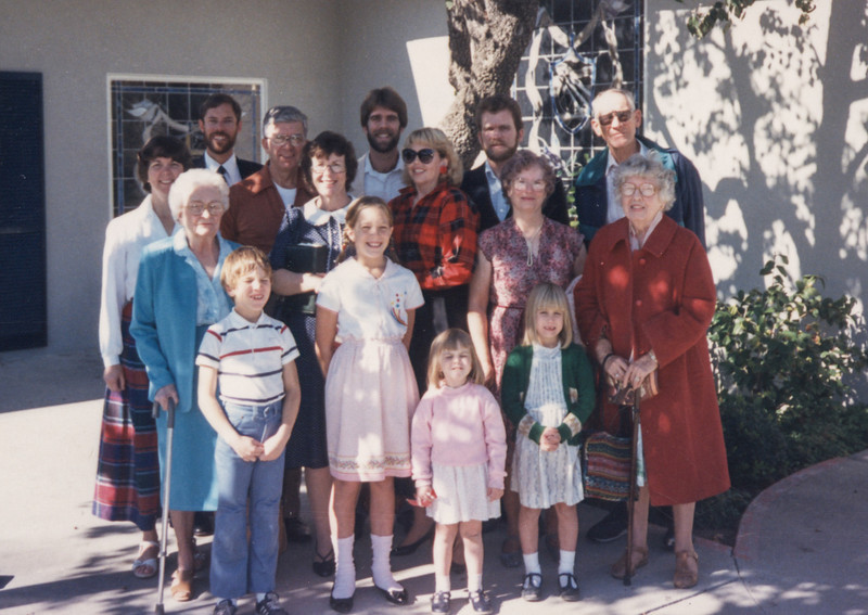 Annie's and Jimmy's baptism, 1988