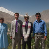 L to r: Rehman's dad, me, Rehman, and the other Osham. This is the famous Hunza valley with Rakaposhi (25,551 ft) in the distance.