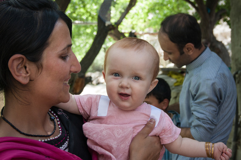 Rehman's sister Hasina with Sienna