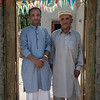 Rehman, the groom, with his dad