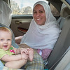 We hired a car and a driver for the journey but we brought Sienna's car seat along too. She did quite well on the trip.