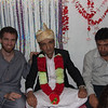 Rehman with his two Oshams. This was the first main day of the wedding.