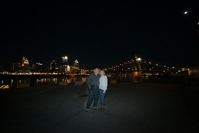 Cincinnati, at the Ohio River.