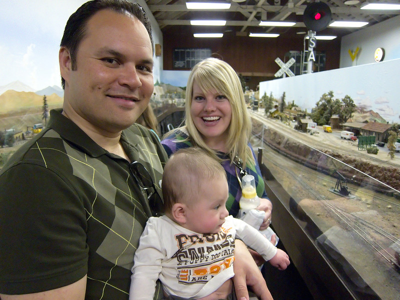 My bro, sister-in-law, and nephew.