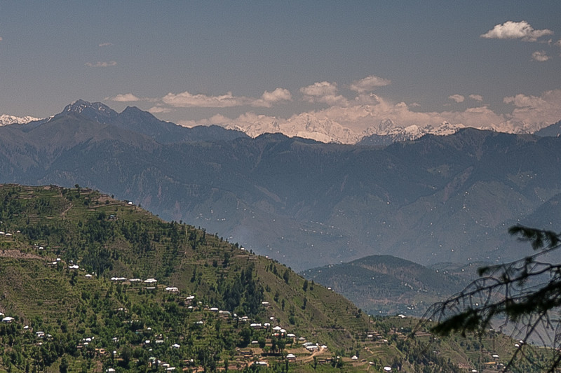 A distant view of Nanga Parbat, sort of hidden in the clouds. At 26,660 ft it is the 9th highest mountain in the world.