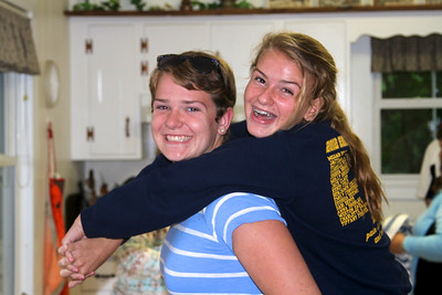 Katie and Marie fooling around.