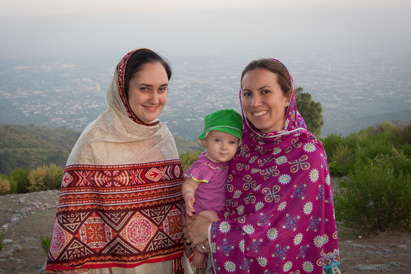 Our friend (and coworker) Sarah came to visit, so we went for a hike at a viewpoint overlooking Islamabad