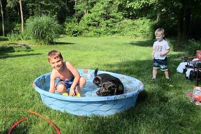 Cooling off during the dog days of summer.
