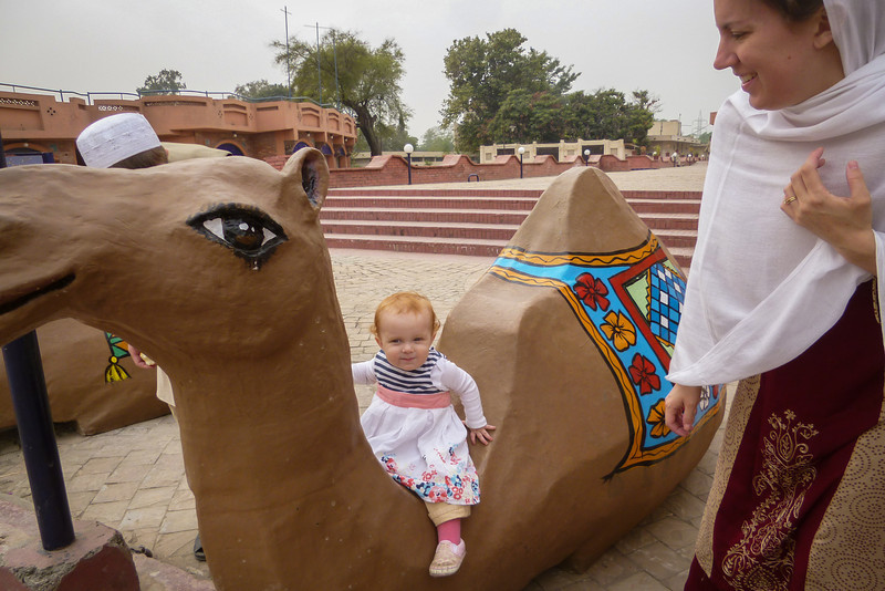 Her first camel ride!