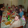 Thanksgiving dinner with all our teammates. What a feast!