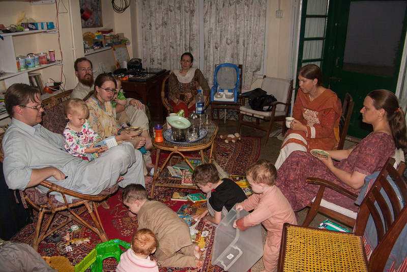 We spent most of the month of August in Murree. One weekend several of our good friends came up and we had a big dinner together. There were lots of kids - eleven children 7 years old and younger (from four families)!