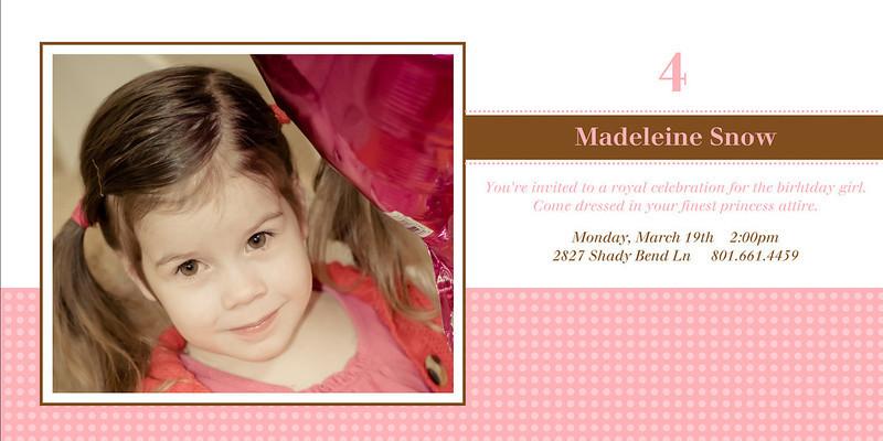 Madeleine Party Invite