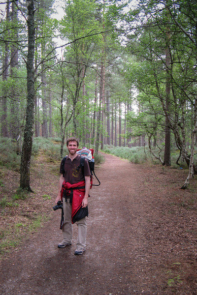 We went on a scenic hike in the forest near Nairn