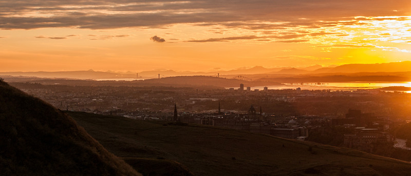 The old city of Edinburgh has an amazing skyline