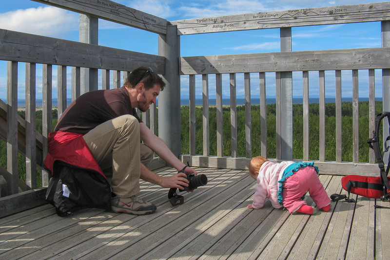 There was a lookout tower with a great view. Sienna enjoyed romping around. Daddy enjoyed taking pictures.