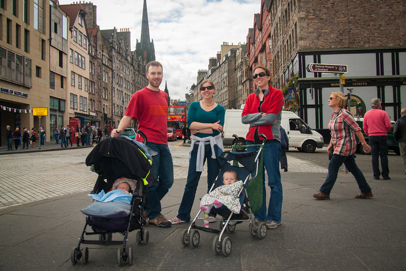 We had one night in Edinburgh where we stayed with Jo's parents. We had a great time walking all around the old city.