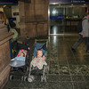 Gideon and Sienna hanging out in the Edinburgh train station