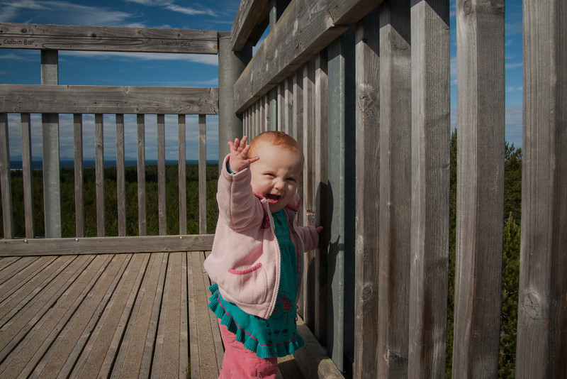 Sometime around 8 or 9 months old, Sienna developed the curious habit of raising her arm in greeting. She still does it sometimes. It's usually when she's happy and receiving lots of attention.