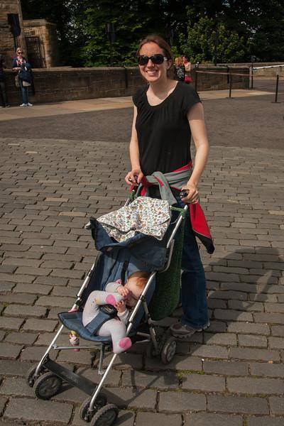 Erin enjoying the walk, Sienna enjoying her foot