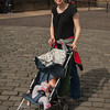 Erin enjoying the walk, Sienna enjoying her foot