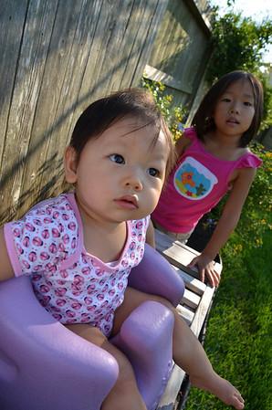 September 23, 2012 - Kids in the backyard