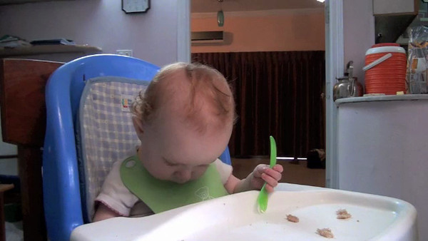 What is it like to eat breakfast with Sienna? There's never a dull moment! (10 1/2 months)