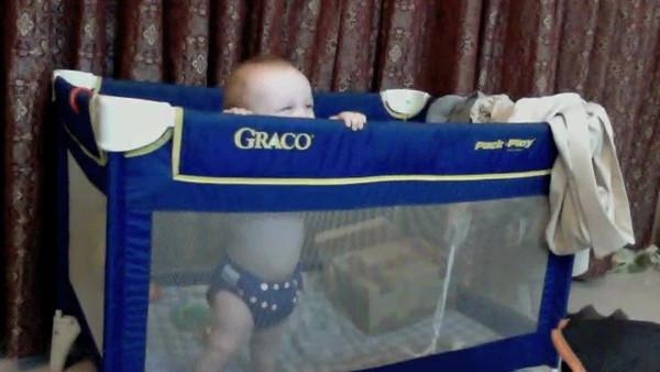 Sienna giggling at Daddy (8 months)