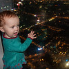 Sienna admiring the view from the top of Taipei 101