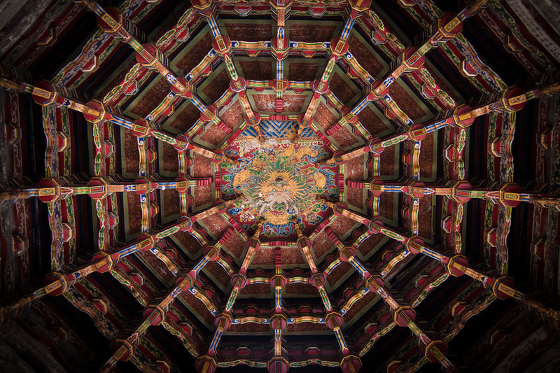 This was the ceiling of walkway in a Buddhist temple we visited