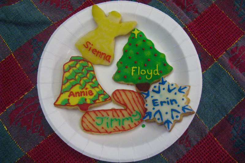 Julie made some fancy Christmas cookies. Yum yum!