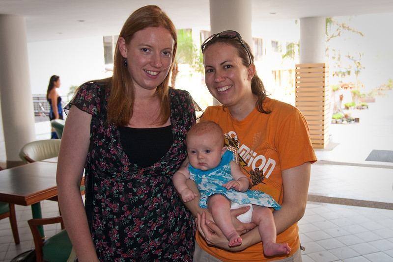 On the left is Kirsty, a good friend of ours, who is also with us in Thailand