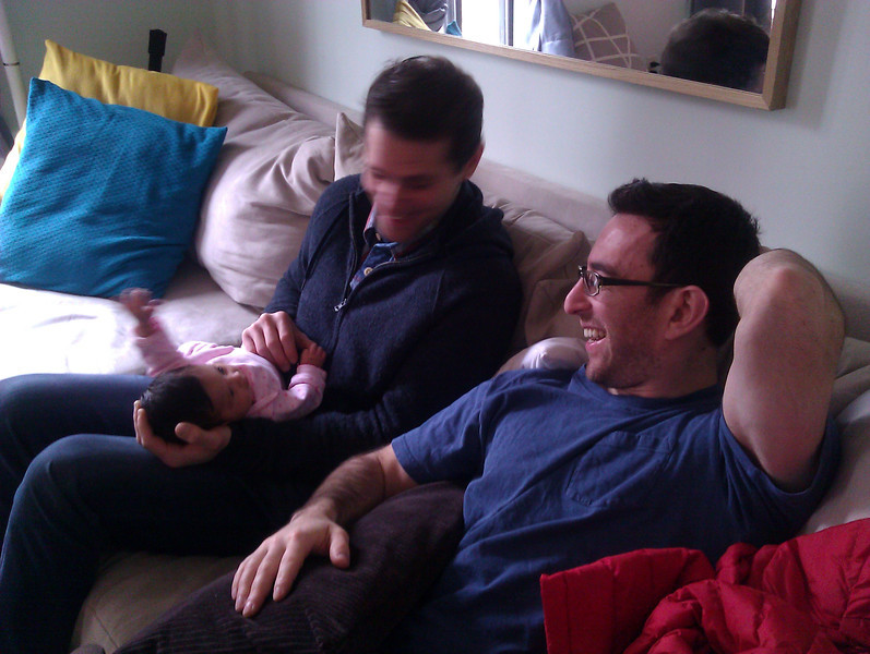 A visit from Paul and Seth.