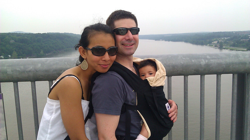 Our first trip with Zoe. Walking over the Hudson.