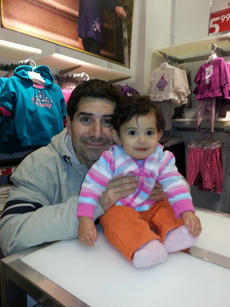 shopping day with daddy.