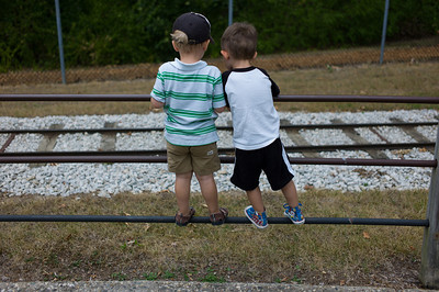 Hunter Grabiec and Ian Haas at Scovill Zoo in Decatur, Illinois on August 12, 2012. (Jay Grabiec)