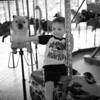 Hunter Grabiec on the Merry-Go-Round at Scovill Zoo in Decatur, Illinois on August 12, 2012. (Jay Grabiec)