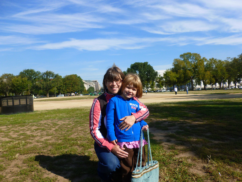 Zia and Mommy 10/12 before the appendicitis - on our way to the National Mall for the Freer and Sackler galleries.