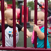 Alison Haas and Henry Grabiec on a baby date at Scovill Park in Decatur, Illinois on August 12, 2012. (Jay Grabiec)