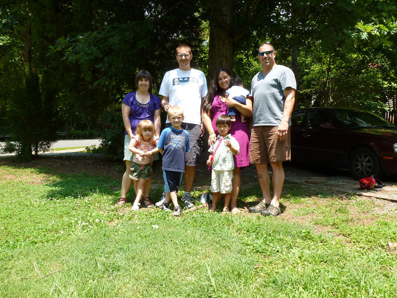 With Leslie, Chris, Dag and Max in NC before we moved to DC