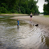 Swimming in the Embarras River at Fox Ridge State Park with the family on May 28, 2012. (Jay Grabiec)