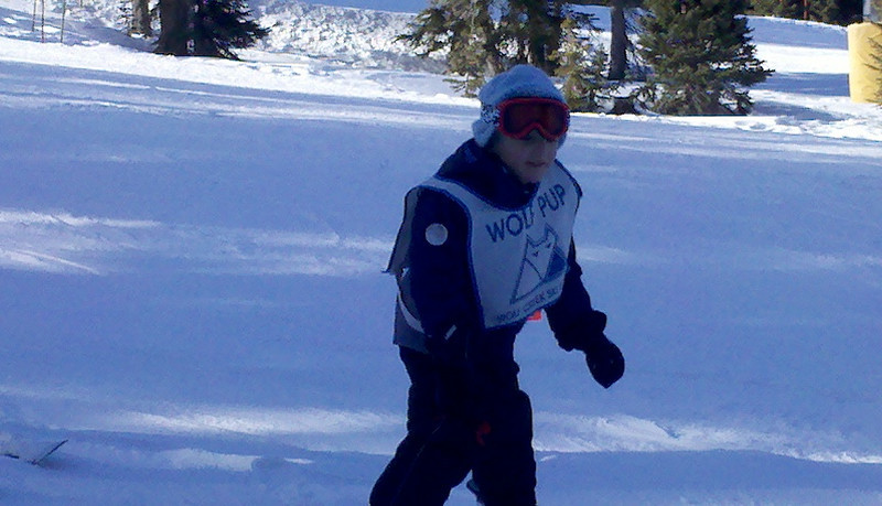Cooper learning to ski the weekend of the car accident!  Look at him go!