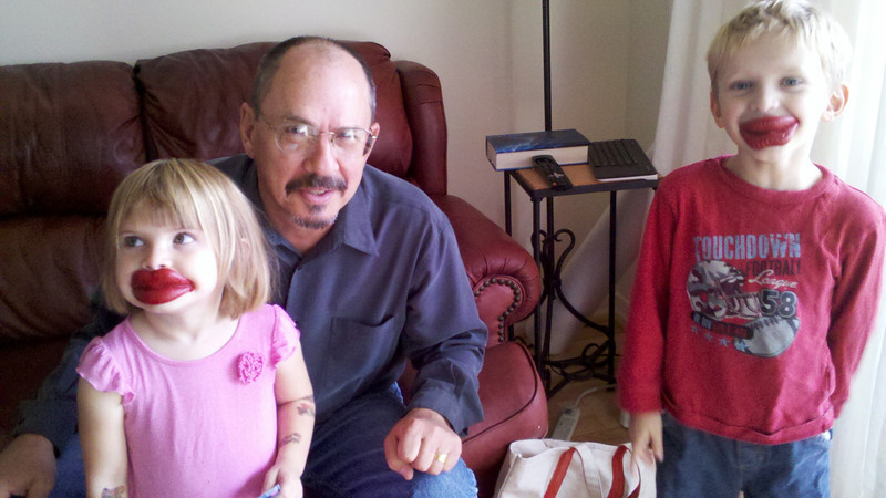 With Grandpa Mike 11/12 in Rockville MD