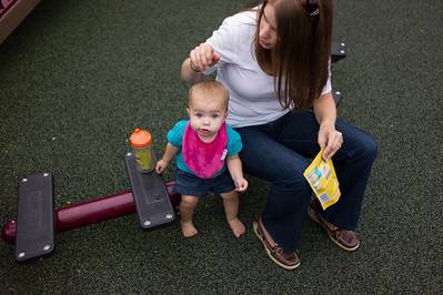Alison and Mallory Haas at Scovill Park in Decatur, Illinois on August 12, 2012. (Jay Grabiec)