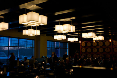 A Lampshades, Inc. installation at Cooper Hawk winery in Orland Park, Illinois on February 17, 2012. (Jay Grabiec)