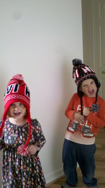 Hats from New Zealand from Grandma Mary and Grandpa Ken!